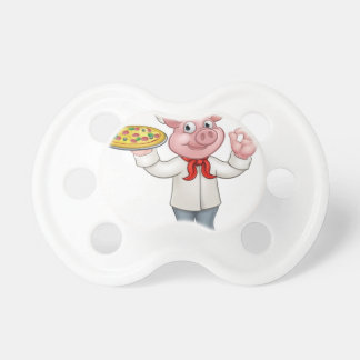 Pig Pizza Chef Cartoon Character Mascot Dummy