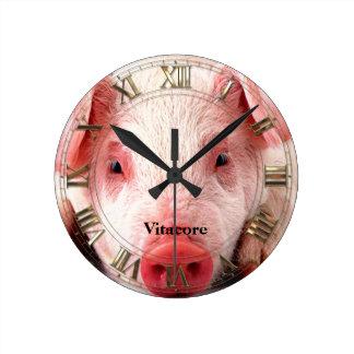 Pig  Professional Round Clock