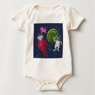 Pig, Raccoon and Pink Elephant Baby Bodysuit