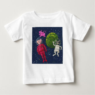 Pig, Raccoon and Pink Elephant Baby T-Shirt