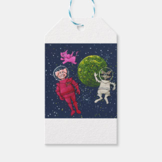 Pig, Raccoon and Pink Elephant Gift Tags