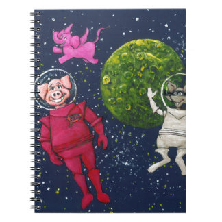 Pig, Raccoon and Pink Elephant Note Book