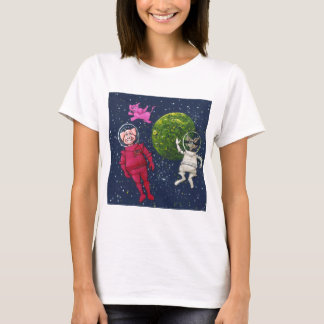 Pig, Raccoon and Pink Elephant T-Shirt