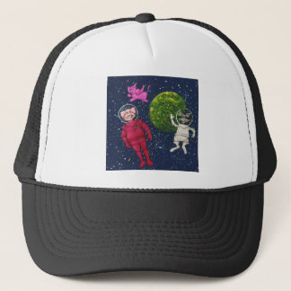Pig, Raccoon and Pink Elephant Trucker Hat