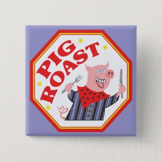 Pig Roast 15 Cm Square Badge