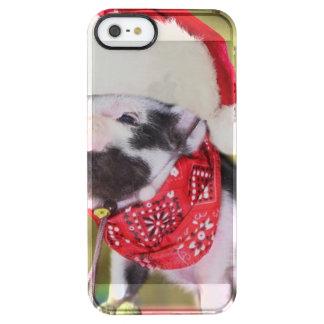 Pig santa claus - christmas pig - piglet clear iPhone SE/5/5s case