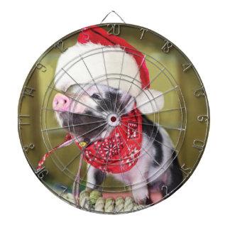 Pig santa claus - christmas pig - piglet dartboard