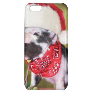 Pig santa claus - christmas pig - piglet iPhone 5C cover