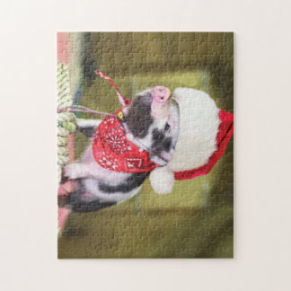 Pig santa claus - christmas pig - piglet jigsaw puzzle