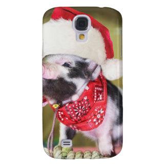 Pig santa claus - christmas pig - piglet samsung galaxy s4 cover