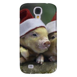 Pig santa claus - christmas pig - three pigs galaxy s4 case