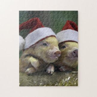 Pig santa claus - christmas pig - three pigs jigsaw puzzle