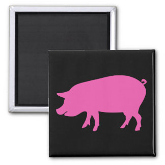 Pig Silhouette Magnet
