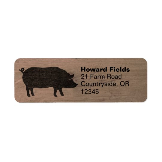 Pig Silhouette Return Address Labels