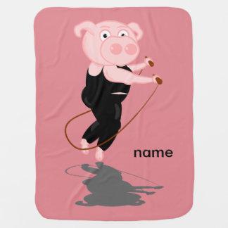 Pig Skipping Pramblanket
