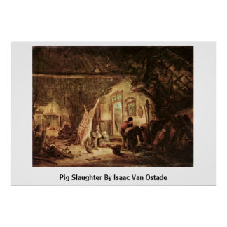 Pig Slaughter By Isaac Van Ostade Posters