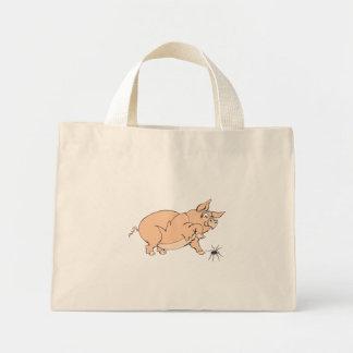 Pig Squishes Spider Mini Tote Bag