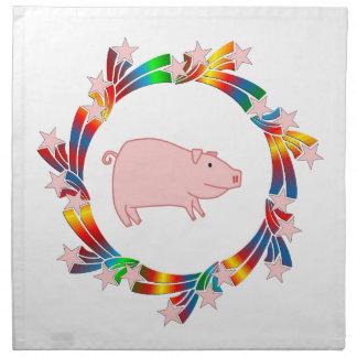 Pig Stars Napkin