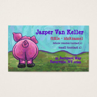 Pig Stationery Business Card