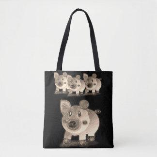 Pig tote bag