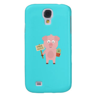 Pig with Cactus Q1Q Galaxy S4 Covers