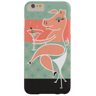 Pig with Martini Barely There iPhone 6 Plus Case