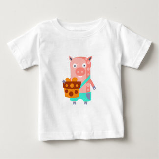 Pig With Party Attributes Girly Stylized Funky Baby T-Shirt