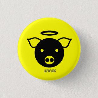 PiGcasso Art Exhibit - Angel Piggy 3 Cm Round Badge