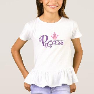PIGCESS  CARTOON Girls' Ruffle T-Shirt