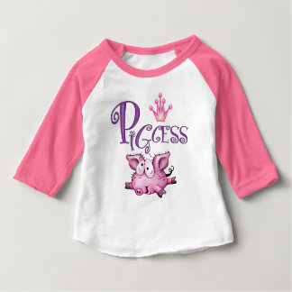 PIGCESS CUTE Baby American Apparel 3/4 Sleeve Ragl Baby T-Shirt