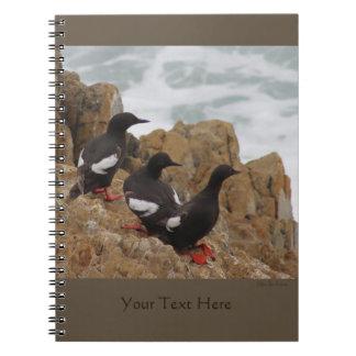 Pigeon Guillemots Spiral Notebook 2