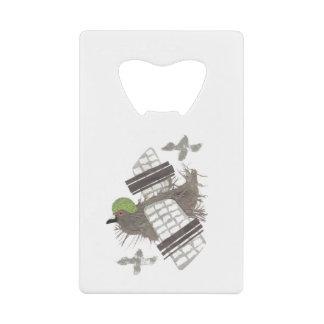 Pigeon Plane Credit Card Bottle Opener