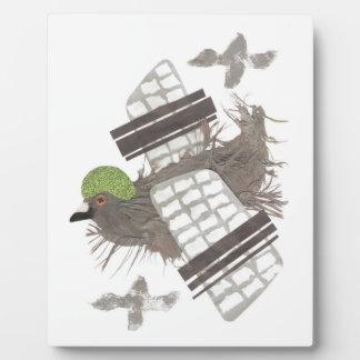 Pigeon Plane Easel Plaque