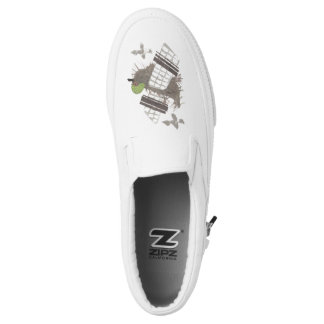 Pigeon Plane Men's Slip On Shoes