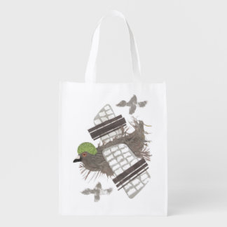 Pigeon Plane No Background Reusable Bag