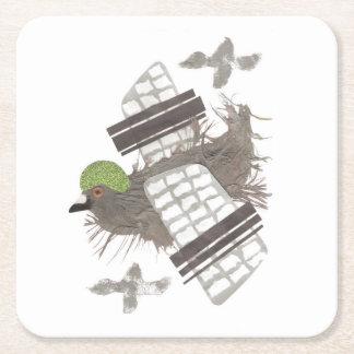 Pigeon Plane Paper Coaster