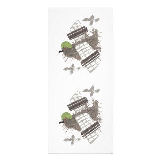 Pigeon Plane Rackcard Rack Card