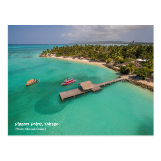 Pigeon Point Tobago With Glass Bottom Boats Postcard