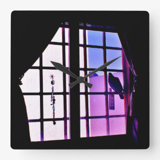 Pigeon View Square Wall Clock
