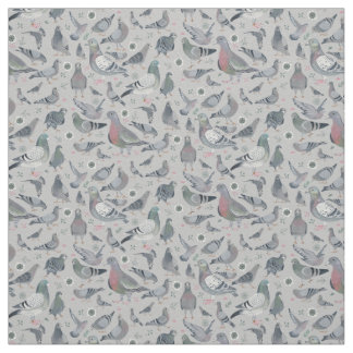 Pigeons Animal Birds Novelty | Fabric Curtain