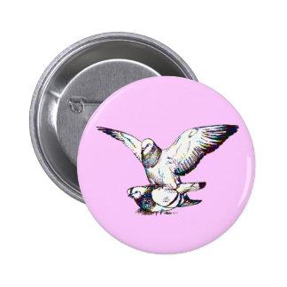Pigeons Mating 6 Cm Round Badge