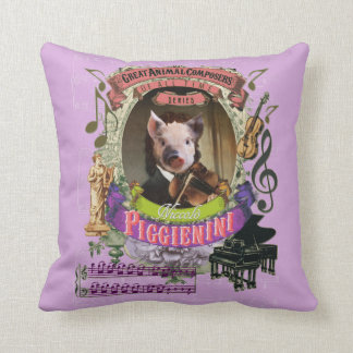 Piggienini Cute Pig Animal Composer Paganini Cushion
