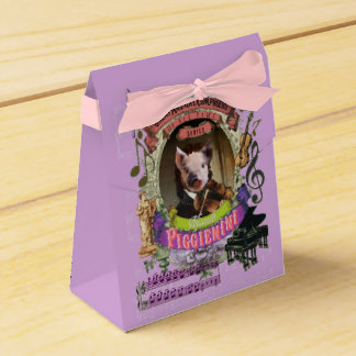 Piggienini Great Animal Composer Paganini Cute Pig Favour Box