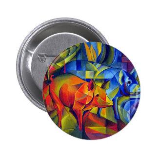 piggies 6 cm round badge