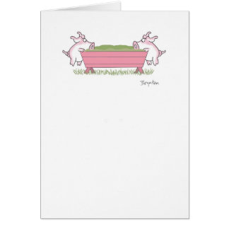 PIGGING OUT GREETING CARDS