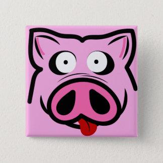 Piggy 15 Cm Square Badge