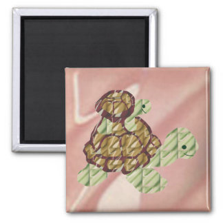 Piggy backing turtles magnet