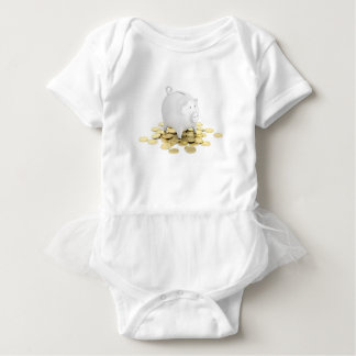 Piggy bank and coins baby bodysuit
