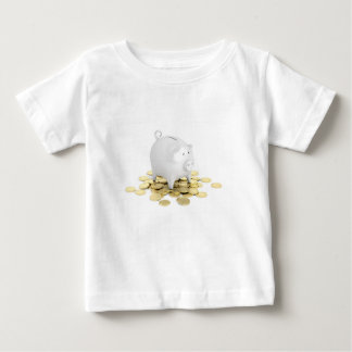 Piggy bank and coins baby T-Shirt
