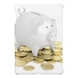 Piggy bank and coins iPad mini covers